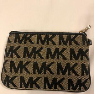 Michael Kors logo wristlet wallet